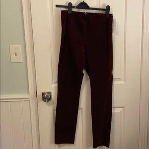 Brand new Theory Bordeaux velvet leggings size 8
